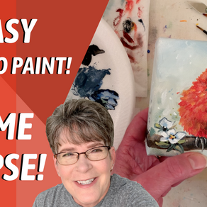 Cardinal Painting with TRACEABLE! HOW TO PAINT WITH ACRYLIC!