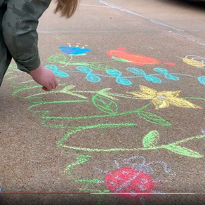 Our First Chalk Your Walk Drawings
