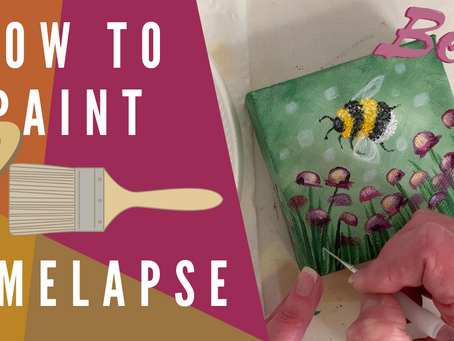 Easy Cute Bee Painting Time-lapse!