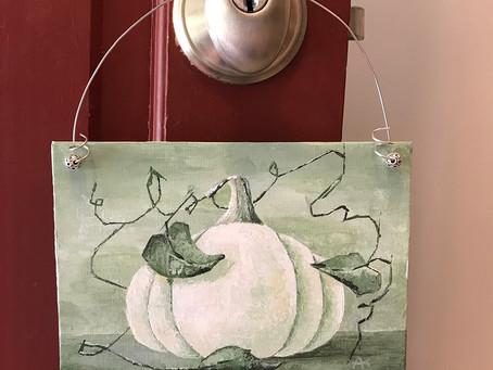 Behind the Scenes Pumpkin Painting