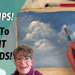BEST how to paint CLOUDS with acrylic paint TIPS!