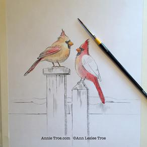 Behind the Scenes Peek - Cardinal Red