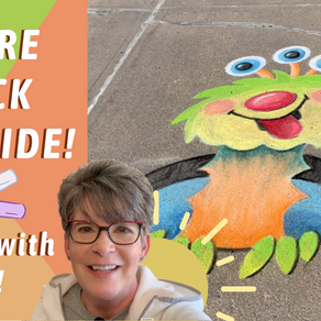 Chalk your WALK! Monster Outside! ep.41