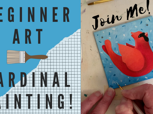 EASY Ornament Painting! - Cardinal!
