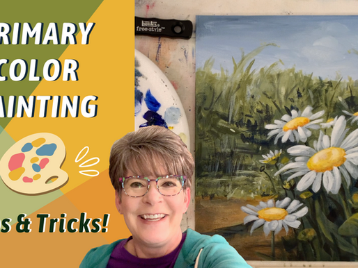 Fun Daisies to paint with me - Traceable available