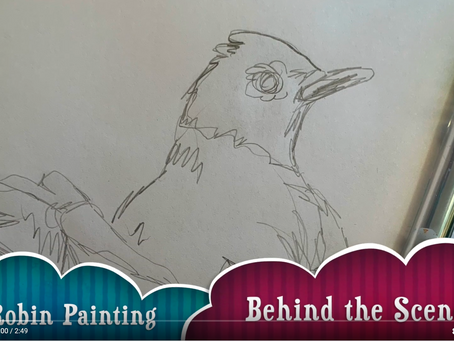 Robin Bird Painting Time Lapse Video