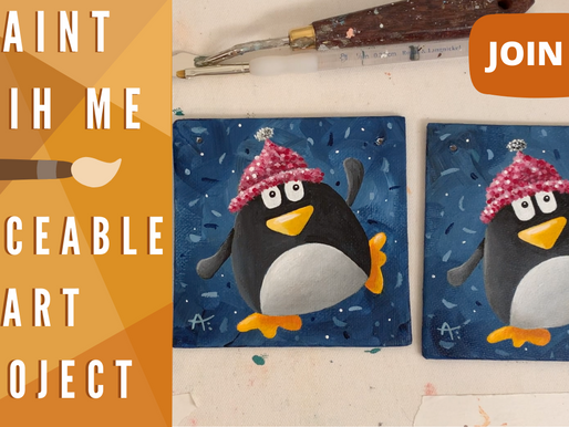 Traceable Available for Cute Ornament Painting! - Penguin!