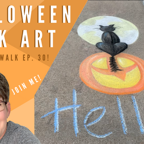 Chalk Your Walk! #30 - Halloween Cat!