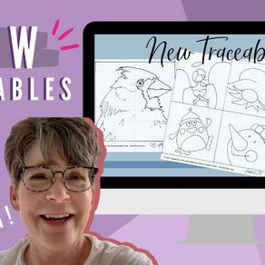 3 NEW Traceables! - Any Art Medium!