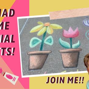 CHALK ART! Chalk Your Walk Flowers in Pot! ep.46