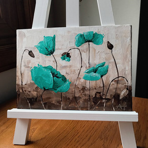 """""""Peaceful Poppies"""" Original Painting Giveaway!"""