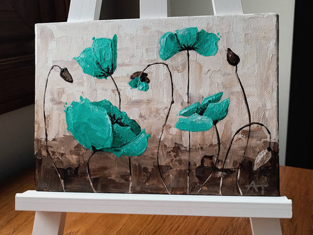 """Peaceful Poppies"" Original Painting Giveaway!"