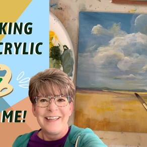 Painting CLOUDS and An Easy Landscape for BEGINNERS! By: Annie Troe
