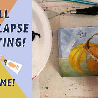 SIMPLE Pumpkin and Bee TIME-LAPSE Process! TRACEABLE AVAILABLE! By: Annie Troe
