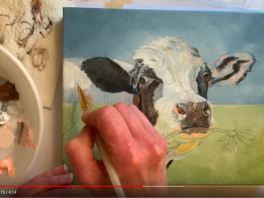 Behind the Scenes Look at My New Cow Painting
