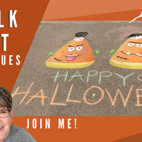 Chalk Your Walk! #29 - Mrs & Mr Frankenstein Candy Corn!