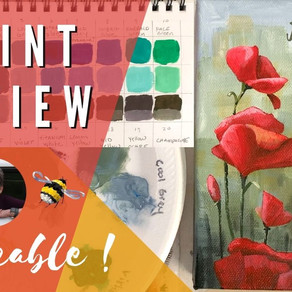 "Vibrant Paint Review AND ""Happy Poppies"" Traceable"