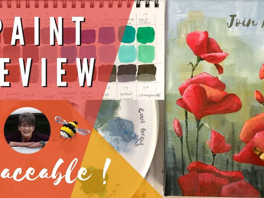 """Vibrant Paint Review AND """"Happy Poppies"""" Traceable"""