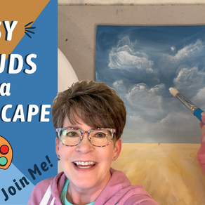 REAL TIME Landscape Painting with CLOUDS! By: Annie Troe!