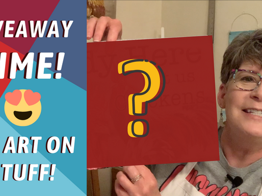GIVEAWAY TIME! My Art On Stuff! Art Licensing Giveaway!