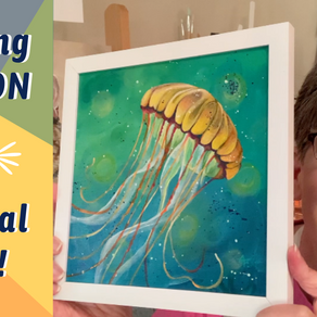 Jelly Fish PAINTING AUCTION! ON FACEBOOK!