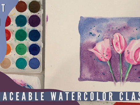 Tulips Traceable Watercolor Class