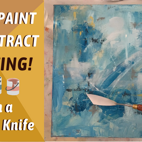 Abstract Painting With a Palette Knife!