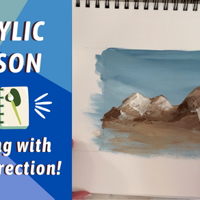 BEST BEGINNER How To Paint MOUNTAINS Lesson! By: Annie Troe