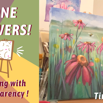 FLOWER PAINTING TIME LAPSE! Painting SIMPLE Petals! By: Annie Troe