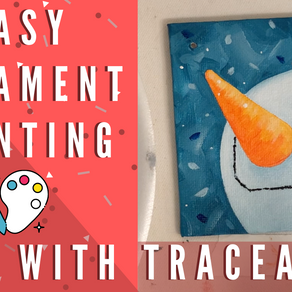 Traceable  for FUN Ornament Painting! - Snowman!