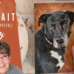 Pet Portrait Process Painting - Darcy!