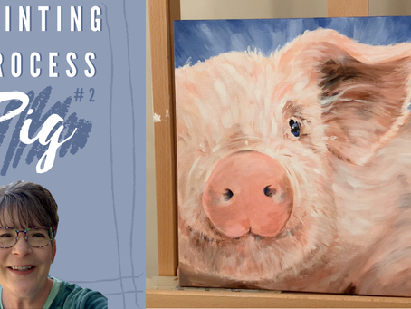 Pig Painting Process Video!