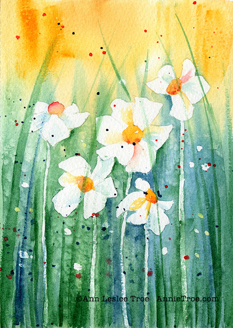 Daisies Watercolor Class