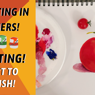 ART TIPS AND TRICKS! Start To Finish Still Life Tomato! By: Annie Troe