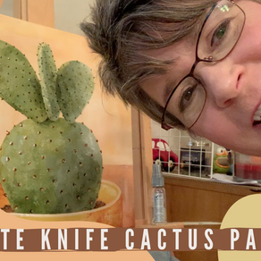 """Up Hairdo"" Acrylic Process Painting - Cactus!"
