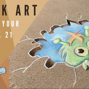 Chalk Your Walk! #21 - Monster!