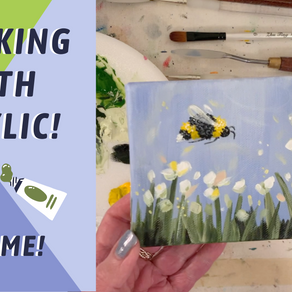 EASY Beginner Painting Lesson! BUMBLEBEE! By: Annie Troe