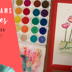 Watercolor Process Painting - AnnieGram Poppies!