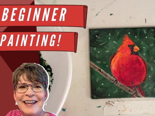 Traceable for BEGINNERS Ornament Painting! - Cardinal!