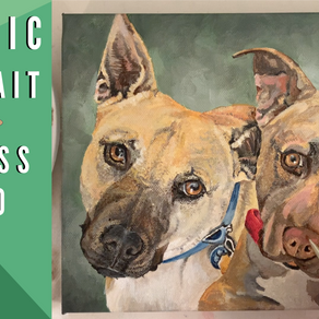 How to Paint a Pet Portrait - Two Dogs, Step by Step!