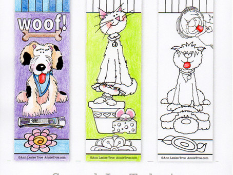 NEW FREE Coloring Bookmarks!