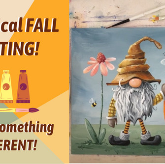 CUTE Fall Pumpkin Gnome Painting WITH TRACEABLE!! By: Annie Troe