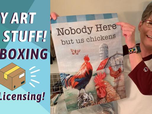 Art Licensing UNBOXING! Chicken Farm Art! By: Annie Troe