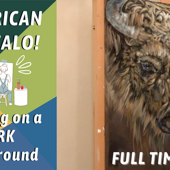BUFFALO / BISON Acrylic Painting! Painting Fur TIPS AND TRICKS! By: Annie Troe