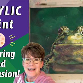 EASY Tips for Painting With VALUES! FROG Traceable AVAILABLE! By: Annie Troe