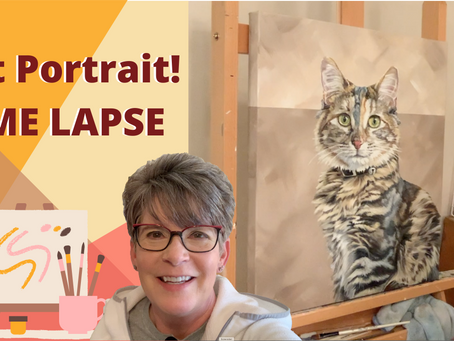 CAT PAINTING! Pet Portrait Time-Lapse! By: Annie Troe