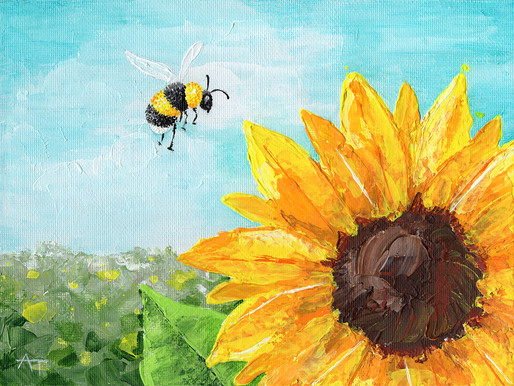 """""""Landing Gear Ready!"""" Sunflower Painting Giveaway"""