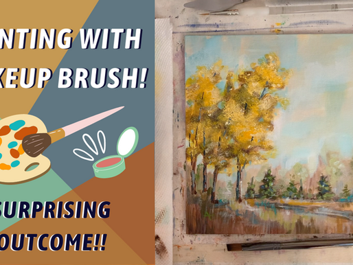 Building on Simple Landscape Painting - Makeup Brush for Leaves