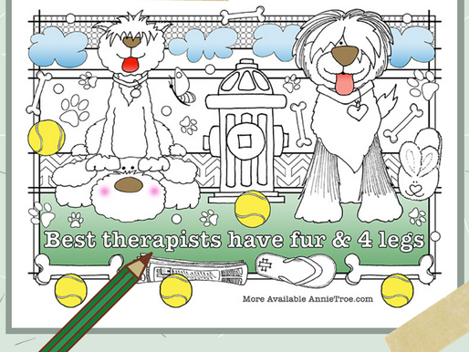 FREE! Dog Coloring Page