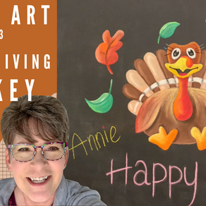 Chalk Your WALL! #33 -Thankful Turkey!
